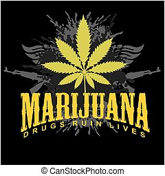 drogas, -, ruina, cannabis., marijuana, lives.