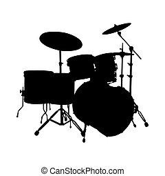 Drum set silueta
