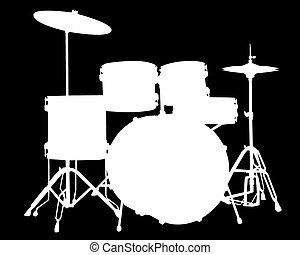 drum-type, ilustración