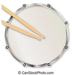 Drumskin y palitos