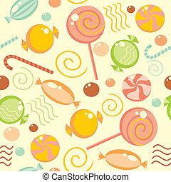 dulce, multicolor, plano de fondo, seamless
