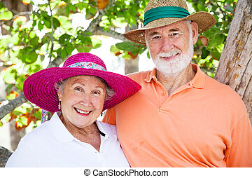 Dulce pareja de ancianos