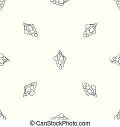 Dulce patrón de uva vector sin costura