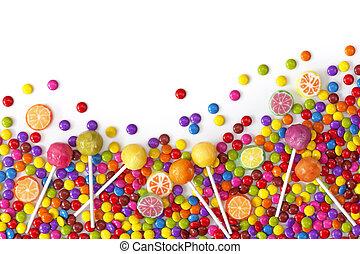 Dulces coloridos mezclados
