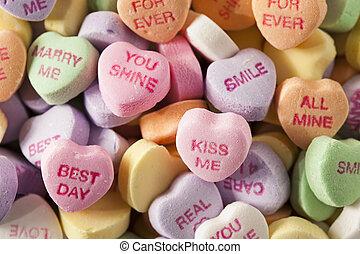 Dulces corazones de conversación para el día de San Valentín