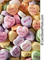 Dulces corazones de conversación para San Valentín