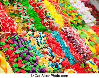 Dulces dulces gelatina en colorido