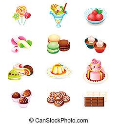 dulces, iconos