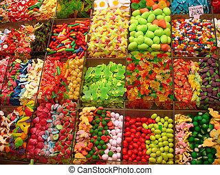 dulces, plano de fondo
