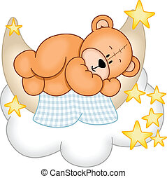 Dulces sueños oso de peluche