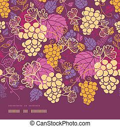 Dulces vides de uva horizontales con un patrón de formación sin costura