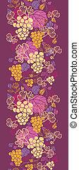 Dulces vides de uvas verticales borde de fondo