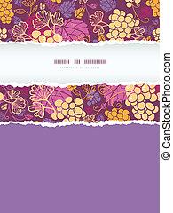 Dulces vides de uvas verticales de un marco sin costura de fondo