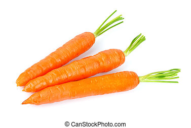 Dulces y freash zanahorias