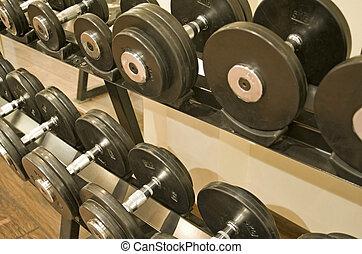 dumbell, pesas, gimnasio