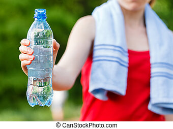durante, entrenamiento, hidratación