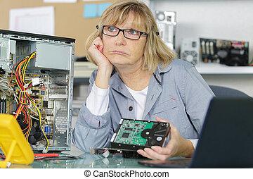 durante, tecnología, mujer, pánico