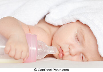 Durmiendo con botella