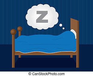 Durmiendo en la cama