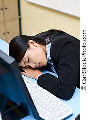 Durmiendo en la oficina