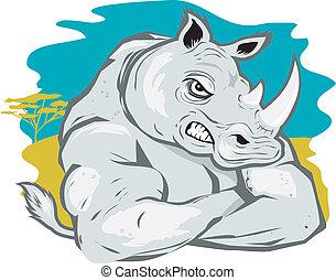 duro, rinoceronte