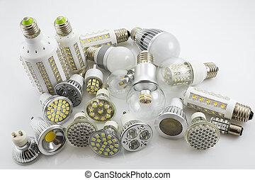 e27, astilla, cubierta, vidrio, fue adelante, tecnología, lámpara, lámparas, diferente, también, construcción, gu10, potencia