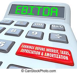 EBITDA contabilizador de presupuesto calculador calculando N
