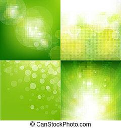 eco, plano de fondo, conjunto, verde, mancha