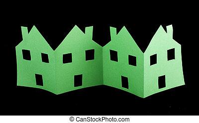 Ecología casas verdes