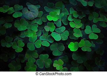 ecología, leaves., verde, fondo., resumen, patrón, hojas
