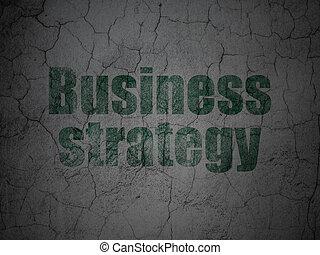 Economía financiera: estrategia de negocios en fondo grunge de pared