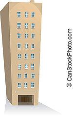 edificio, apartamentos