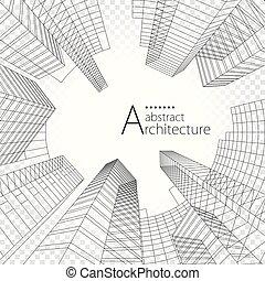 edificio, arquitectura, design., moderno, urbano