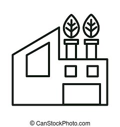 edificio, bioenergy, fábrica