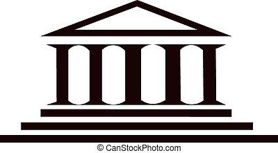edificio, columnas