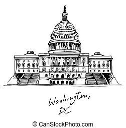 Edificio de capital de los Estados Unidos en Washington, DC