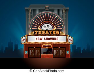 Edificio de cine de teatro