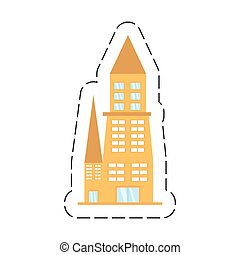 Edificio de dibujos animados urbano