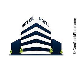 Edificio de hoteles. Casa de invitados. Viaje y viaje.
