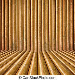 Edificio de madera de bambú