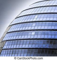 Edificio de oficinas futuristas