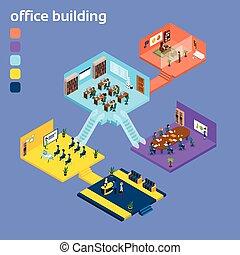 Edificio de oficinas interiores 3D