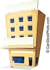Edificio de restaurantes Cartoon Inn