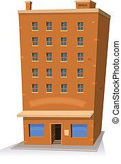 Edificio de tiendas de cartón