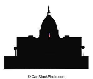 Edificio del Capitolio en la línea DC