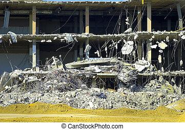 edificio, desplome