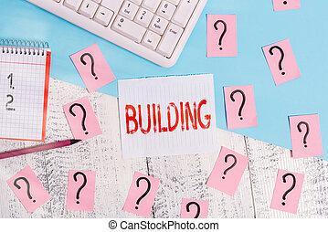 edificio., empresa / negocio, hoja, cima, llenar, herramientas, texto, palabra, libro, o, matemáticas, estructura, arte de ordenador, de madera, materiales, el montar, mesa., escritura, concepto