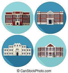 Edificio escolar plano