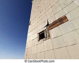 edificio, exterior.
