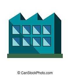 edificio, fábrica, fachada